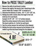How to Piece Tally Lumber