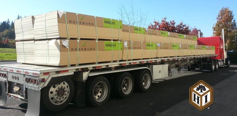Truckload of Roseburg Duramine Melamine Laminate