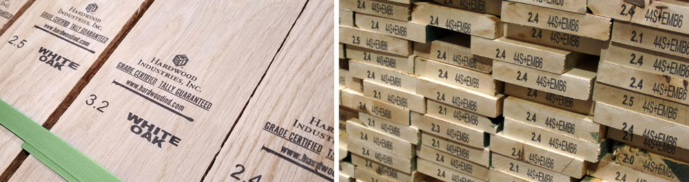 Hardwood Industries Tally Stamp